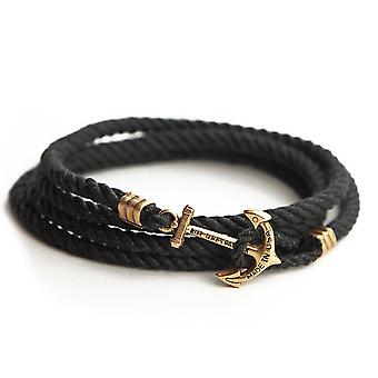 Kiel James Patrick Black Pearl anchor bracelet black