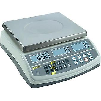 Counting scales Kern CPB 30K0.5N Weight range 30 kg Readability 0.5 g mains-powered, rechargeable