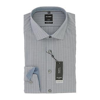 Olympus mens shirt Luxor blue modern fit global Kent collar non-iron Gr. 43
