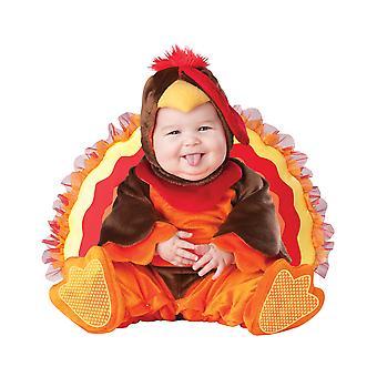 Lil' Gobbler Tyrkiet jul animalske Deluxe Baby drenge spædbarn kostume