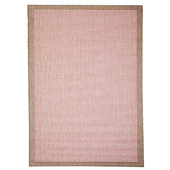 Pink geometriske grænsen Flatweave tæppe - Floorit