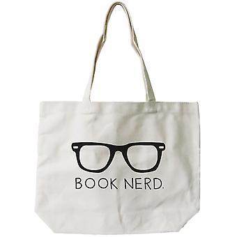 Dla kobiet książki Nerd naturalne płótno Tote Bag - 100% bawełna 18.5x14.25 cale