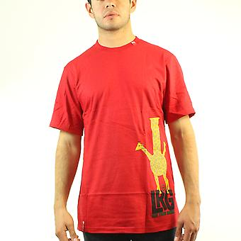 Lifted Research Group LRG Giraffe Eat Your Greens Men's Red T-shirt