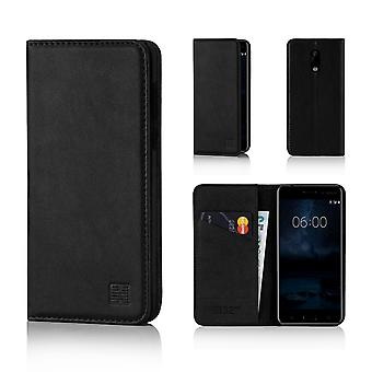 32-классический кошелек для Nokia 6 (2017) - черный