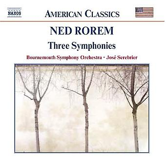 N. Rorem - Ned Rorem: Three Symphonies [CD] USA import