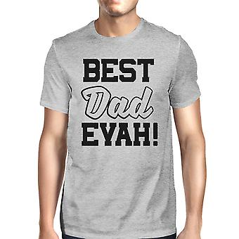 Best Dad Ever Mens Grey Unique Design T Shirt Round Neck Tee For Dad