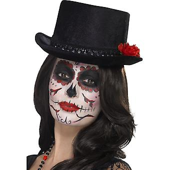Day of the dead Mexico cylinder dead Hat Halloween Black
