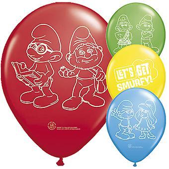 Die Schlümpfe Luftballon Kinderparty 8 Stück Kindergeburtstag
