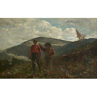 Winslow Homer - The two guides Poster Print Giclee