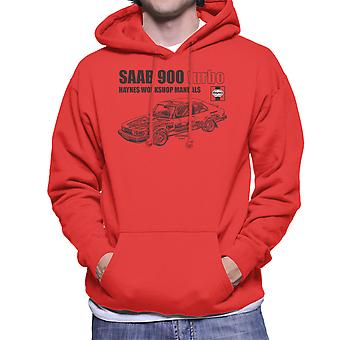 Haynes Workshop handmatige 0765 Saab 900 Turbo zwarte mannen Hooded Sweatshirt