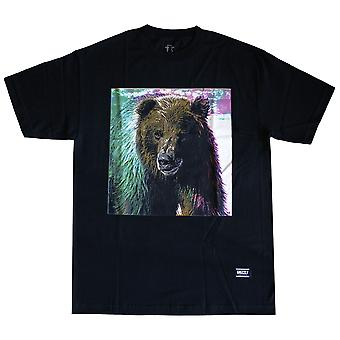Grizzly Griptape Tie-Dye Fur T-Shirt Black