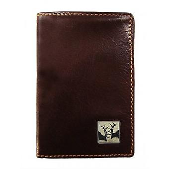 Tyler e Tyler pelle Rutting Stags Travel Card titolare - Brown