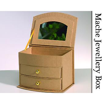 Paper Mache Jewellery Box with Drawers & Mirror to Decorate