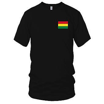 Bandiera nazionale del paese Bolivia - Logo - ricamato camicia 100% cotone t-shirt bambini T