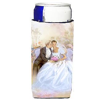 Matrimonio coppia bacio Michelob Ultra isolatori di bevanda per lattine slim