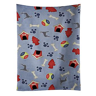 Dog House Collection Blue Cropped Great Dane Kitchen Towel