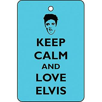 Keep Calm And Love Elvis Car Air Freshener