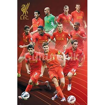 Liverpool Players 1213 Poster Poster Print