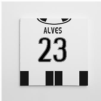2016-2017 Juventus Canvas Print (Alves 23)