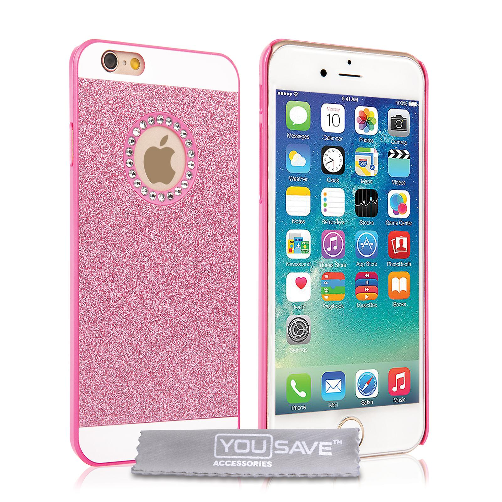 Yousave Accessories Iphone SE Flash Diamond Case - Pink