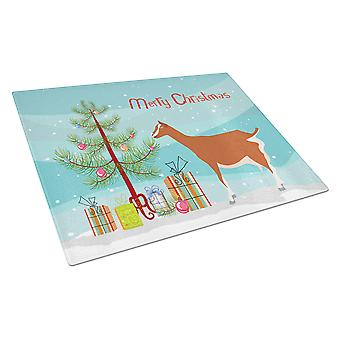 Toggenburger Goat Christmas Glass Cutting Board Large