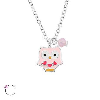 Owl crystal from Swarovski® - 925 Sterling Silver Children's Jewellery
