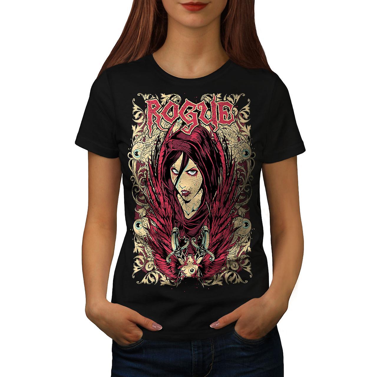 Girl Goth Punk Fashion Women Black T-shirt | Wellcoda