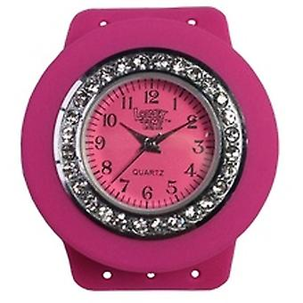 Loomey Time Bubblegum Pink Bling Single Watch With Sparkly Jewels