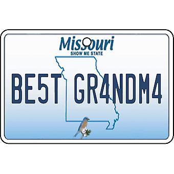 Missouri - Best Grandma License Plate Car Air Freshener