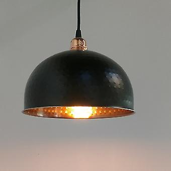 Black & Copper Pendant Light