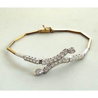 Gold cubic zirconia bracelet
