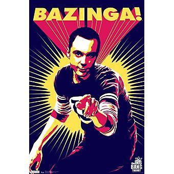 Big Bang Theory - Sheldon Cooper Bazinga Poster Print