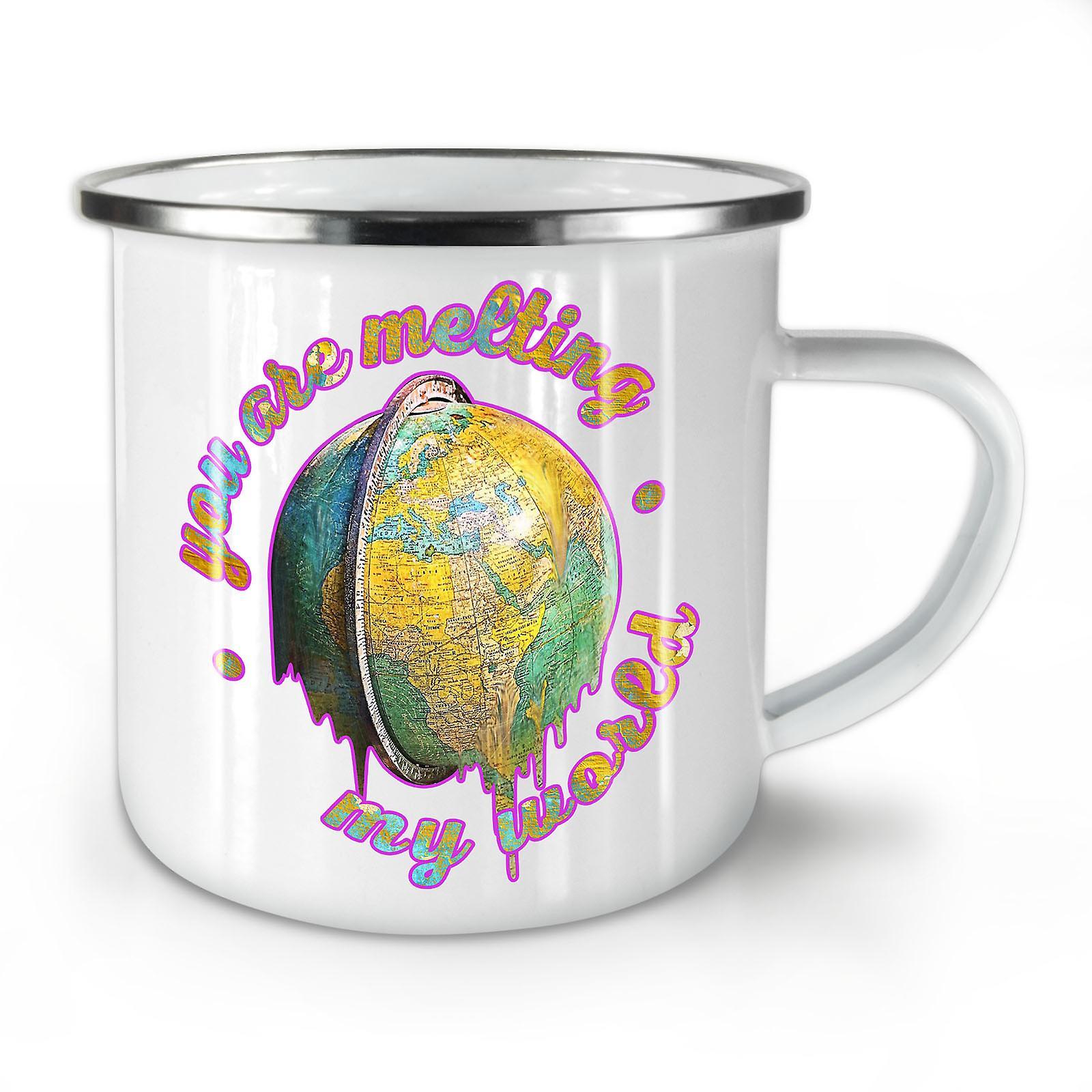 Monde Émail Whitetea Fondre Nouveau OzWellcoda Le Mignon Mug10 Café XZkuOPi