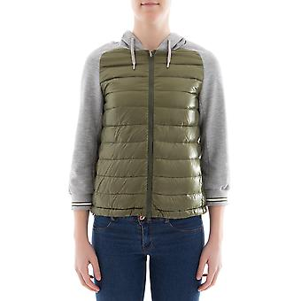 Herno women's PI0804D120177308 green nylon Quilted Jacket