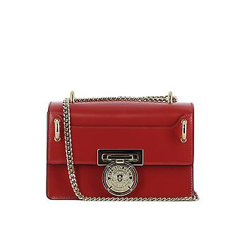 Balmain women's S8FS106PVCL132 red leather shoulder bag