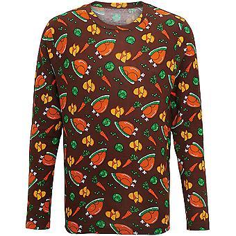 Christmas Mens & Womens Long Sleeve Turkey Dinner T Shirt