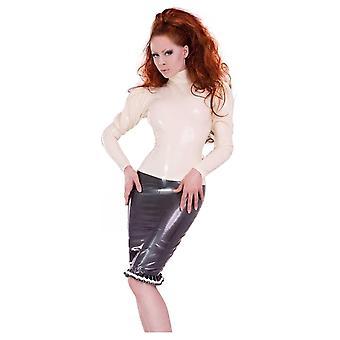 Westward Bound Roxy Ruffle Latex Rubber Skirt.
