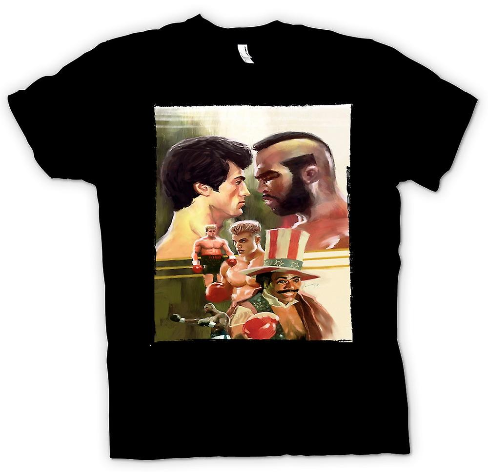 Womens T-shirt - Rocky - Boxing Movie - Collage