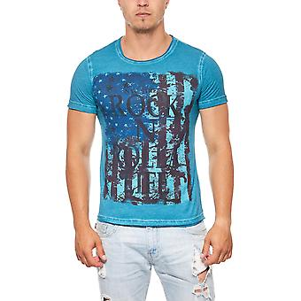 T-Shirt mens rock blue RUSTY NEAL