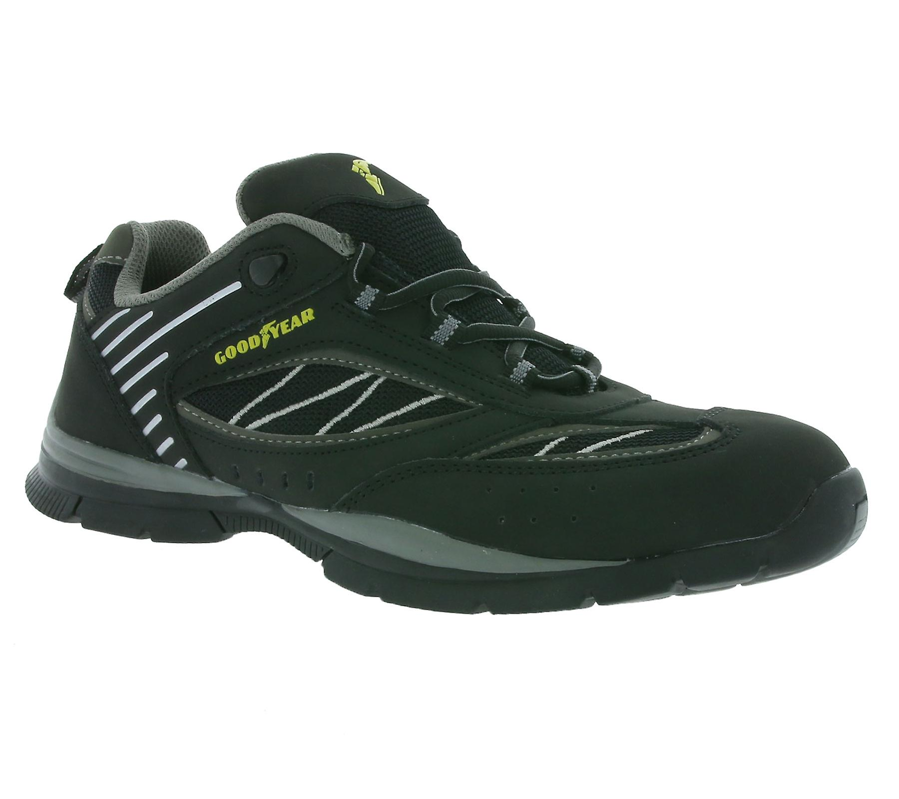 GOOD black YEAR S1P safety shoes black GOOD 4a7f9c