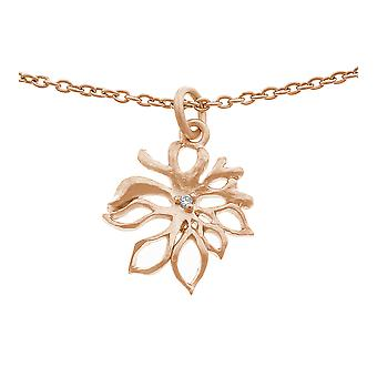 Orphelia Silver 925 Chain With Pendant Roseplated Zirconium  ZH-6027/1