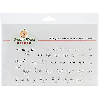 Peachy Keen Stamps Clear Face Assortment 32/Pkg-Rosie's Favorites