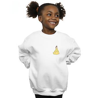 Disney Princess Mädchen Belle Brust Sweatshirt