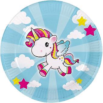 Unicorn party plate 23 cm Dekoteller 8 piece Unicorn Unicorn party decoration