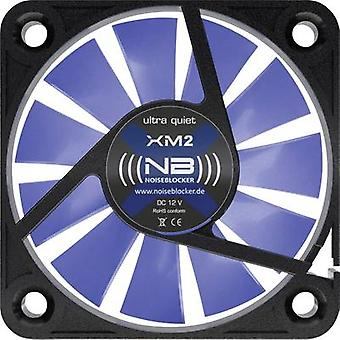 NoiseBlocker BlackSilent XM-2 PC fan Black, Blue (transparent) (W x H x D) 40 x 40 x 10 mm