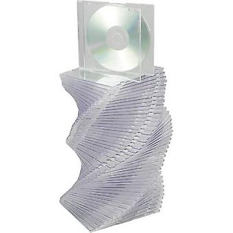 CD slimline jewel case 1 CD/DVD/Blu-Ray Plastic Transparent 50 pc(s)