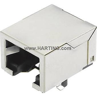 Harting 09 45 551 1110 Sensor/actuator data kabel socket, ingebouwd No. aantal pinnen (RJ): 8P8C 1 PC (s)