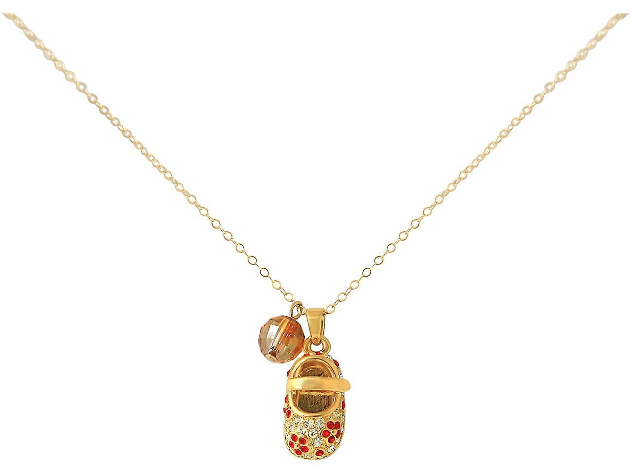 Gemshine - Damen - Kind - Halskette - Anhänger - Rot Vergoldet - Schuh - Rot - - MADE WITH SWAROVSKI ELEMENTS® - 45 cm 4e7f7d