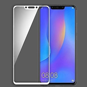 For Huawei P smart plus / Nova 3i 3D premium 0.3 mm H9 hard glass, white slide protection cover new