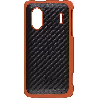 HTC Hardshell Case für HERO S, EVO 4G - Schwarz/Orange Design